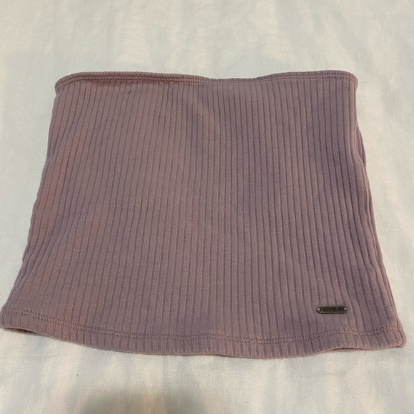 Lavender/pinkish ribbed tube top from Hollister